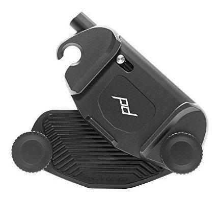 peak design capture camera clip v3 con placa