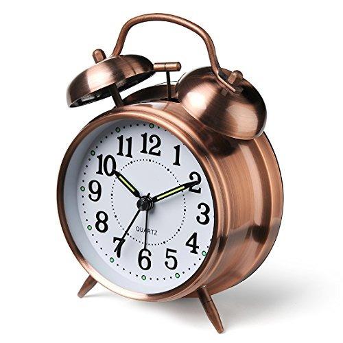 peakeep alarma de alarma gemela de 4 -inch(bronce)