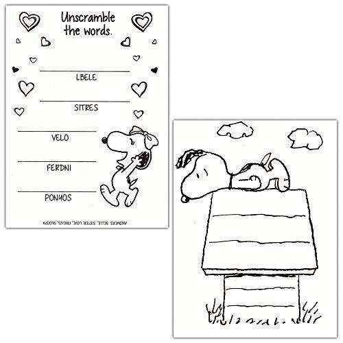 Peanuts Snoopy Para Colorear Y Libro De Actividades Con ...