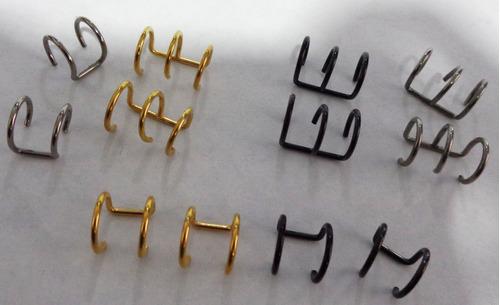 pearcing oreja sin perforacion, cada uno x 10000