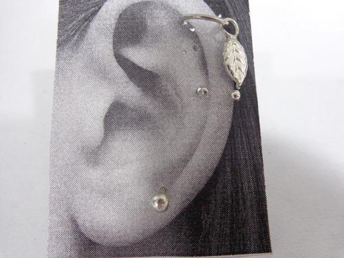 pearcing set oreja plata925