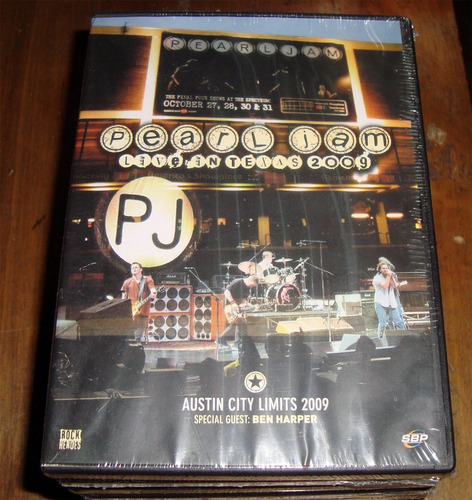 pearl jam live in texas 2009 dvd sellado kktus