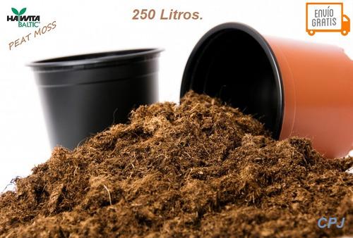 peat moss sustrato turba orgánico paca con 250 lt con envío