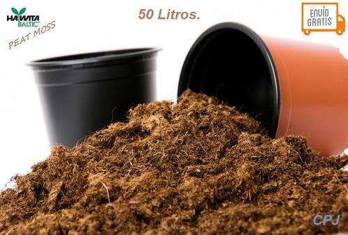 peat moss sustrato turba orgánico paca con 50 lt con envío