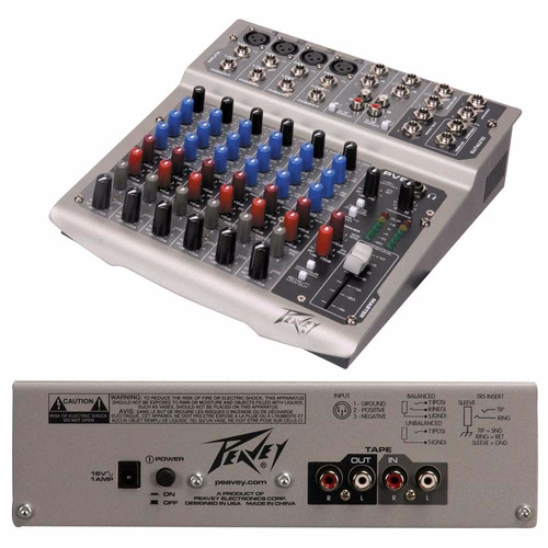 peavey mixer pv8 8 canales hendrix music