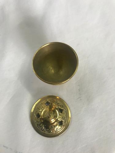 pebetero en bronce macizo x 7cm