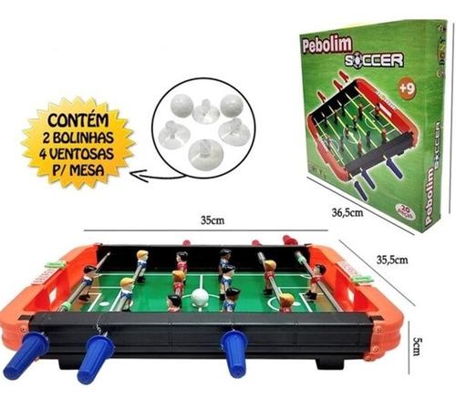 pebolim totó futebol de mesa 20 peças completo infantil
