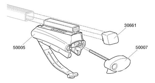 peça de reposição thule rapid system 775 - 50007 1 pç