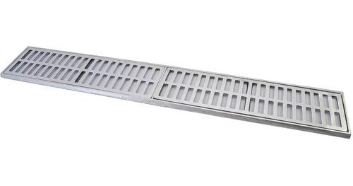peça ralo pluvial grelha linear alumínio fundido 15x100 cm