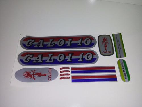peças acabamento quadro caloi 10 1976 etiquetas caloi 10