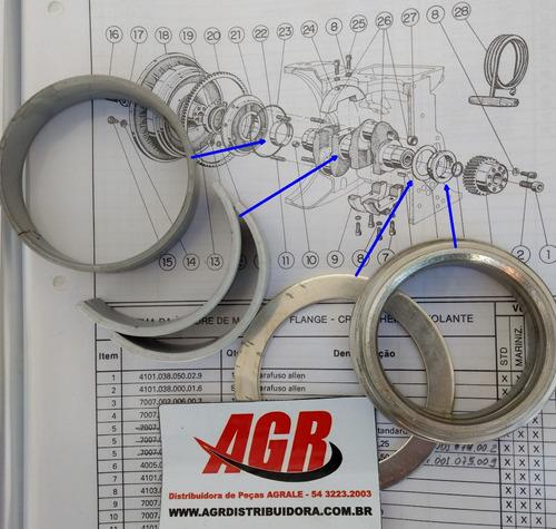 peças agrale, jogo de bronzinas 0,25 motor agrale m790