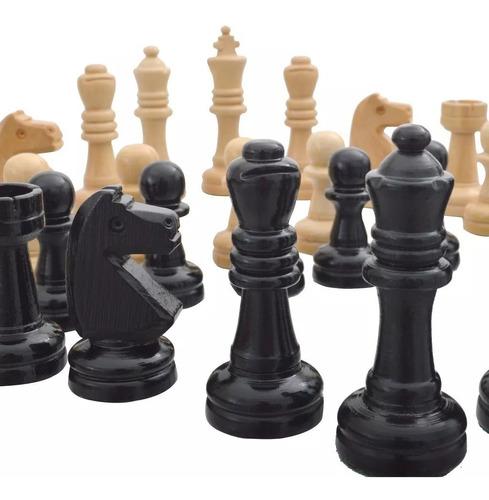 peças para jogo de xadrez em  madeira oficial