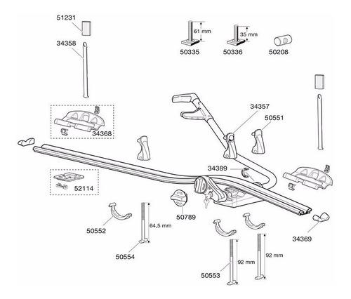 peças reposição 34358 suporte para bicicletas thule 561 591