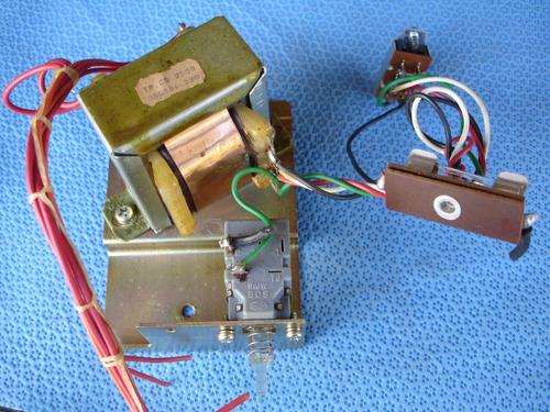 peças - tape deck cd-3500/2500 - transformador c/ chave
