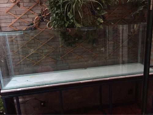 pecera 700l 2,14 largo x 68 h x50 ancho acuariocentral