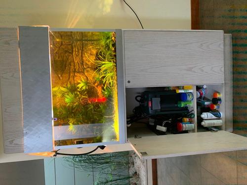 pecera acuario 285 litros 95x60x50 con hermoso mueble