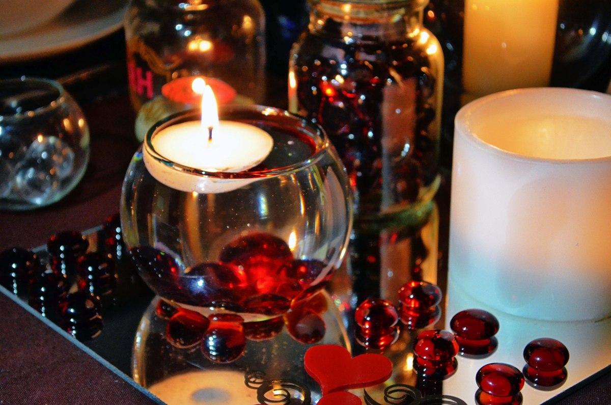 Peceras de cristal con vela flotante aluzza en - Casas con peceras ...