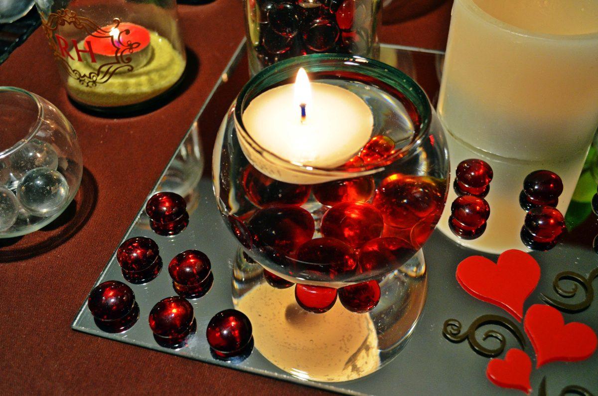 Peceras de cristal con vela flotante aluzza en - Decoracion de peceras ...