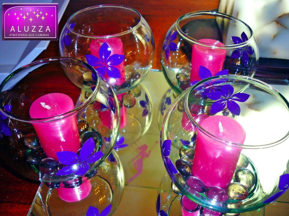 Peceras para decoraci n de xv a os 10 piezas aluzza for Decoracion en jardin para 15 anos