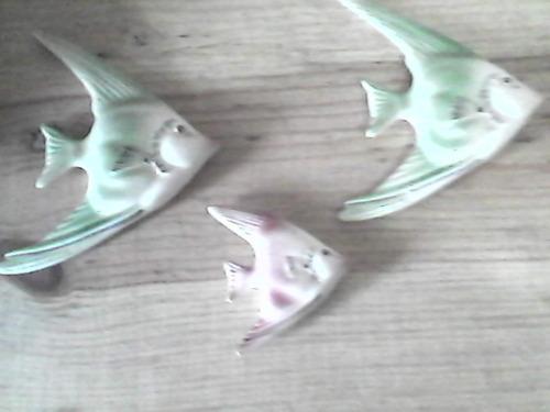 peces en la pared ceramica adorno