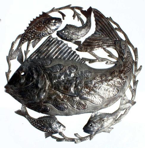 peces grande de metal decoracion pared casa interiores 60cm
