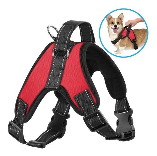 pechera arnés nylon p/ perro mascota deportiva o p/ paseo
