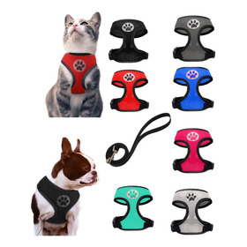 Pechera Chaleco Arnés Para Mascota  Perro Gato Raza Pequeña