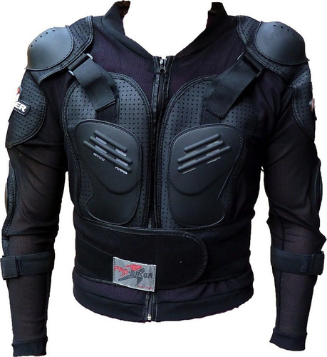 pechera chamarra con protecciones enduro atv cross fas motos
