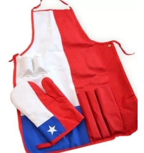 pechera  delantal  chile + guante  asados y cocina / r4291