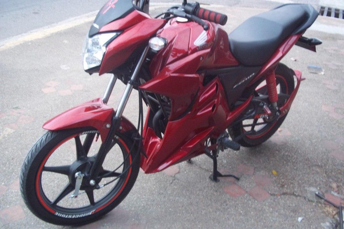 moto honda c b 110 color rojo