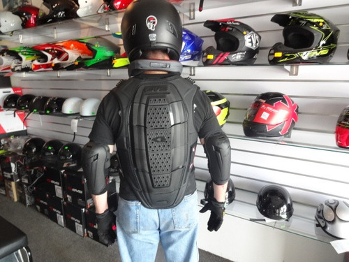 pechera para moto pista calle - evs sport vest negra