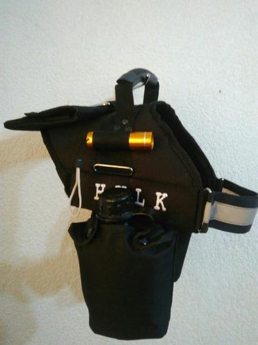 pechera premium k9 con cantimploras alforja nombre lámpara.