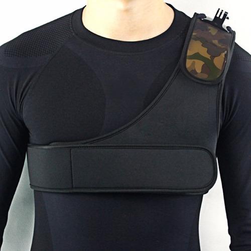 pechera soporte hombro shoulder mount cámara go pro hero