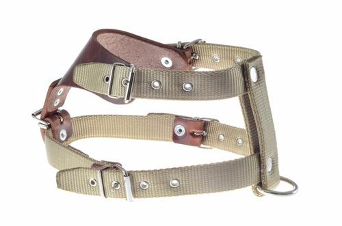 pechera tibet ajustable nylon para perro 38cm x 1.9cm