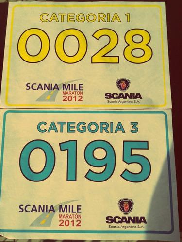 pecheras identificatorias para carreras en tyvek