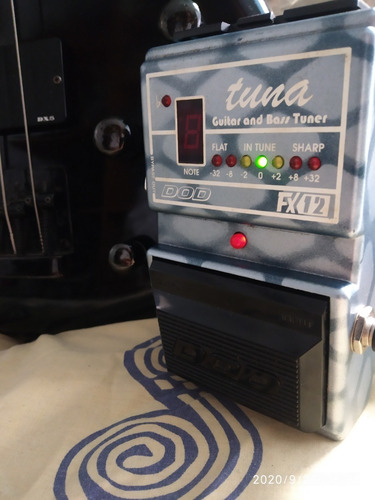 pedal afinador cromatico guitarra/bajo dod fx12