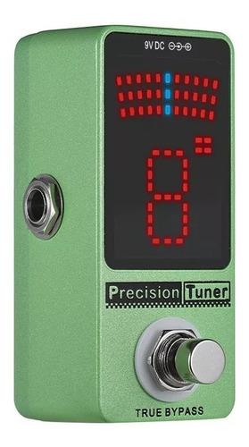 pedal afinador guitarra precisão display led com true bypass