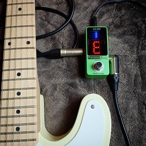 pedal afinador mini cromatico digital cuvave guitarra baixo