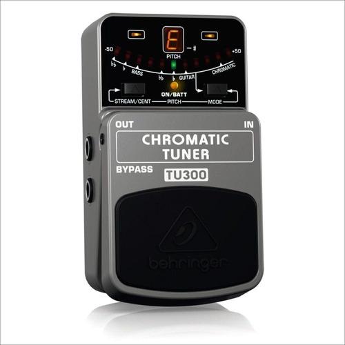 pedal afinador para guitarra behringer tu300 chromatic tuner
