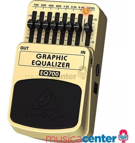 pedal baixo guitarra equalizador gráfico behringer eq700