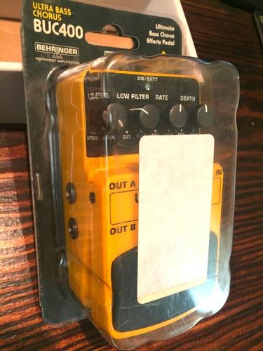 pedal behringer buc400 - stereo chorus para bajo