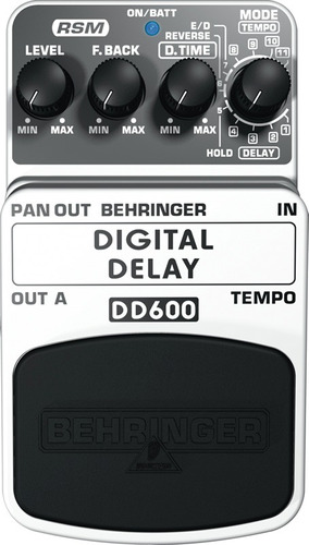 pedal behringer digital delay dd600 eco rms 24bits dsp tech