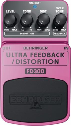 pedal behringer fd300 feedback y distorsion guitarra bajo