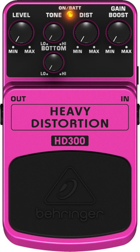 pedal behringer heavy distortion hd300