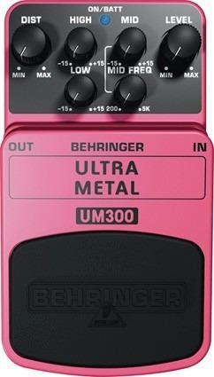 pedal behringer - ultra metal - um 300