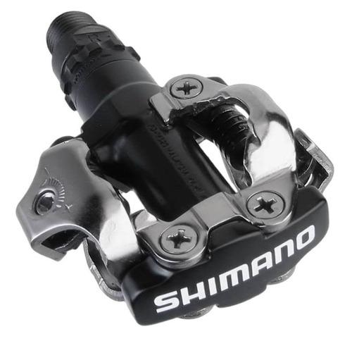 pedal bicicleta shimano spd pd-m520 com taquinho - preto