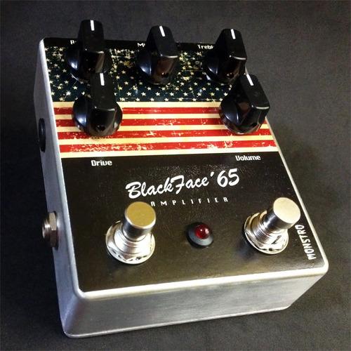pedal black face 65 overdrive monstro guitarra som de fender