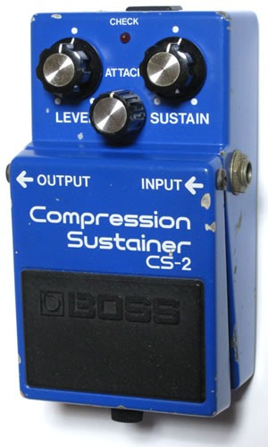 pedal boss cs-2 compression sustainer japan - compresor