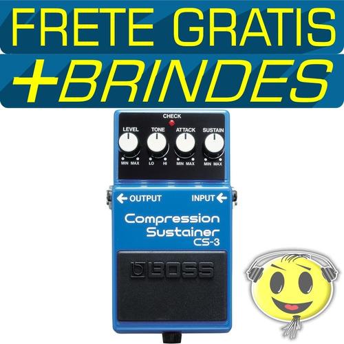 pedal boss cs3 guitarra compressor +fonte hayonik kadu som