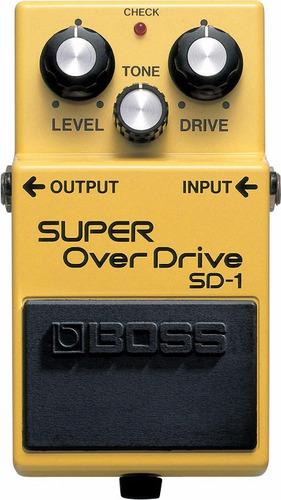 pedal boss de distorção p/ guitarra - sd-1 super overdrive